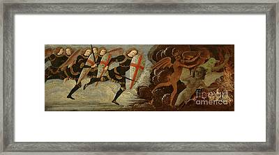 St. Michael And The Angels At War With The Devil Framed Print by Domenico Ghirlandaio