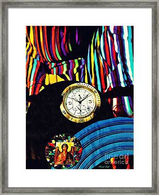 St Michael At The Gates Of Time Framed Print