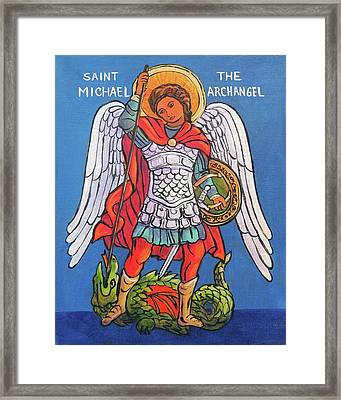 St. Michael The Archangel Framed Print by Candy Mayer
