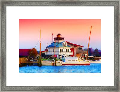 St. Michael's Lighthouse Framed Print by Bill Cannon