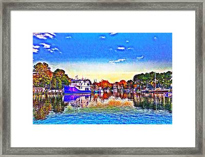 St. Michael's Marina Framed Print by Bill Cannon