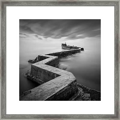St Monans Breakwater Framed Print