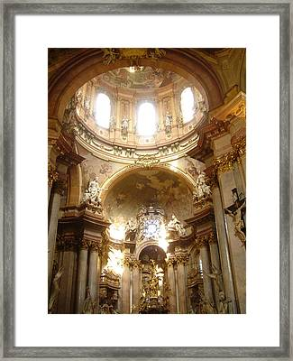 St. Nicholas Church In Prague Framed Print