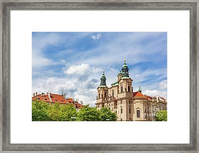 St. Nicholas Church In The Old Town Of Prague, Czech Republic Framed Print by Michal Bednarek