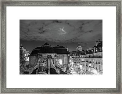 St Nicholas Du Chardonnet, Paris, At Night Framed Print