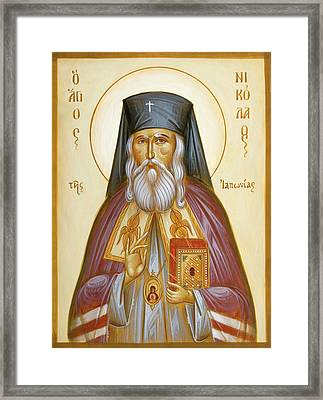 St Nicholas Of Japan Framed Print by Julia Bridget Hayes