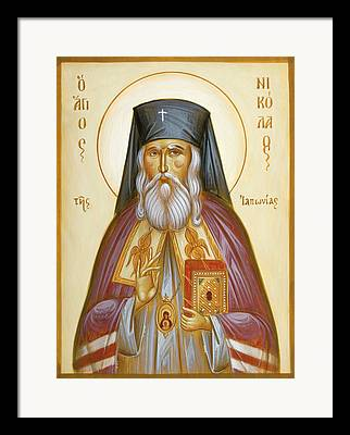 St Nicholas Of Japan Framed Prints