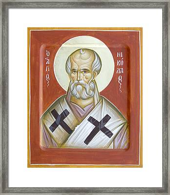 St Nicholas Of Myra Framed Print