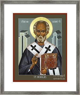 St. Nicholas Of Myra - Rlnic Framed Print by Br Robert Lentz OFM