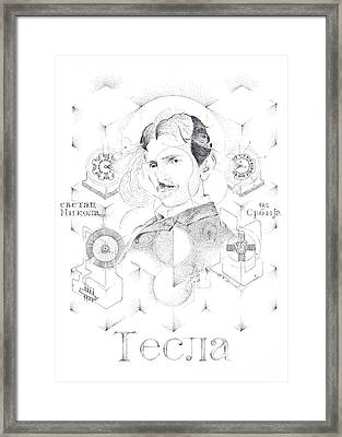 St. Nikola Tesla Of Serbia Sombra De Arreguin Framed Print