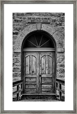 St Olafs Church Door Framed Print by Stephen Stookey