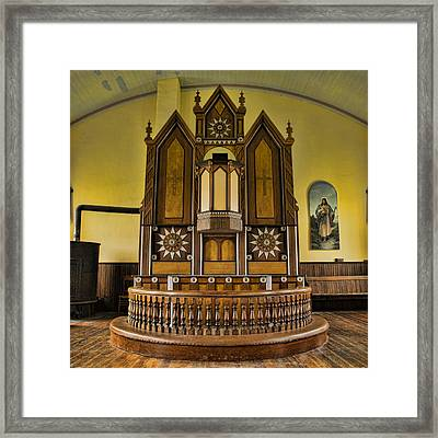 St Olafs Kirke Pulpit Framed Print by Stephen Stookey