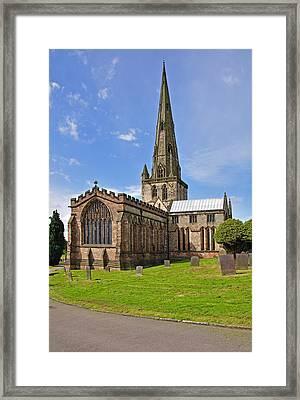 St Oswald's Church - Ashbourne Framed Print by Rod Johnson