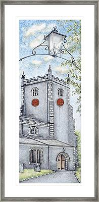 St Oswald's Church Clock Framed Print by Sandra Moore