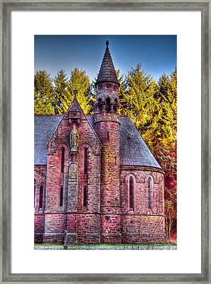 St Palladius Church Drumtochty Framed Print by Gabor Pozsgai