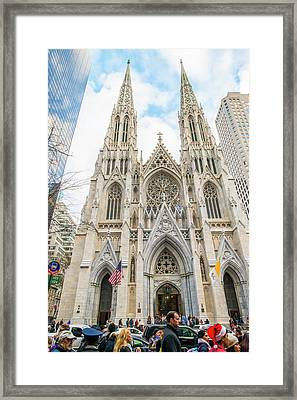 St. Patrick Cathedral In New York Framed Print
