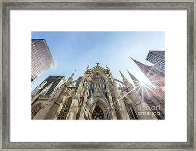 St. Patrick Cathedral, Manhattan, New York, Usa Framed Print