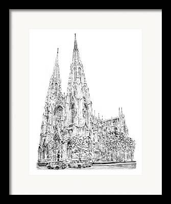 St. Patricks Cathedral Framed Prints