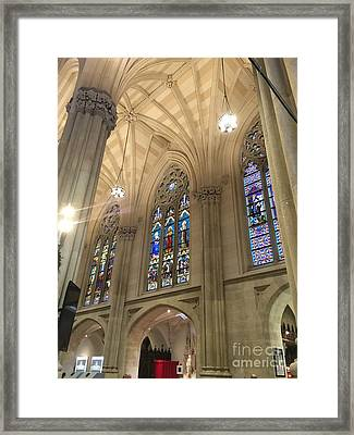 St. Patricks Cathedral Interior Framed Print