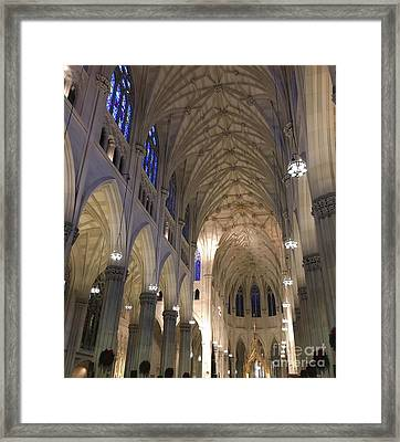 St. Patricks Cathedral Main Interior Framed Print