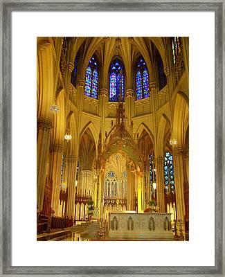 St Patricks Cathedral New York Framed Print by Vijay Sharon Govender