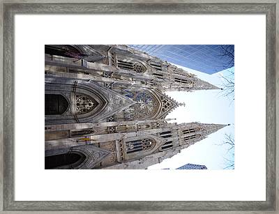 St Patrick's Cathedral Nyc Framed Print