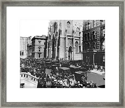 St. Patrick's Cathedral Framed Print by Underwood & Underwood