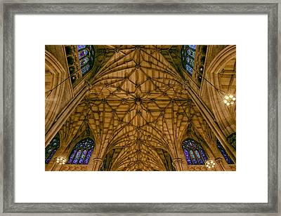 St. Patrick's Ceiling Framed Print by Jessica Jenney