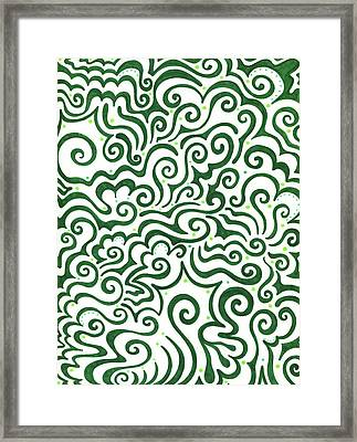 St Patrick's Day Abstract Framed Print