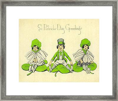 St Patricks Day Greetings Framed Print by Bill Cannon