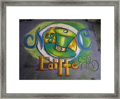 St Patrick's Day Ncohc Welcome Framed Print by Scarlett Royal