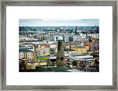 St Patricks Tower From Guinness Brewery In Dublin Framed Print