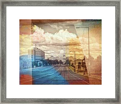 Framed Print featuring the photograph St. Paul Capital Building by Susan Stone