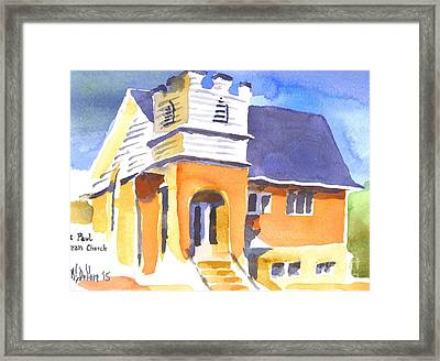 Framed Print featuring the painting St. Paul Lutheran 3 Impressions by Kip DeVore