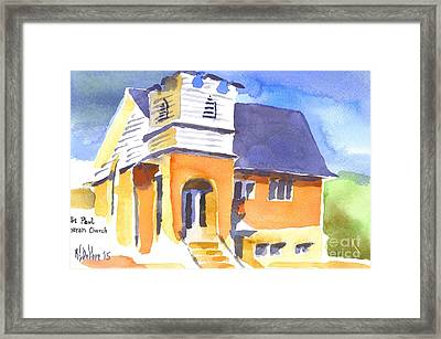 Framed Print featuring the painting St Paul Lutheran 3 by Kip DeVore