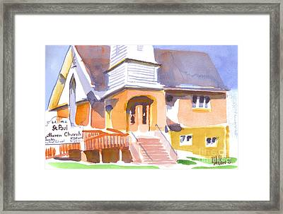 Framed Print featuring the painting St. Paul Lutheran Ironton Missouri by Kip DeVore