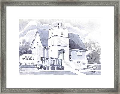 Framed Print featuring the painting St. Paul Lutheran Church 2 by Kip DeVore