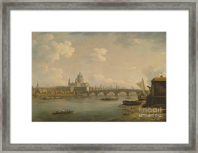 St Paul's And Blackfriars Bridge Framed Print by Celestial Images