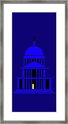 St Pauls By Night Framed Print by Asbjorn Lonvig