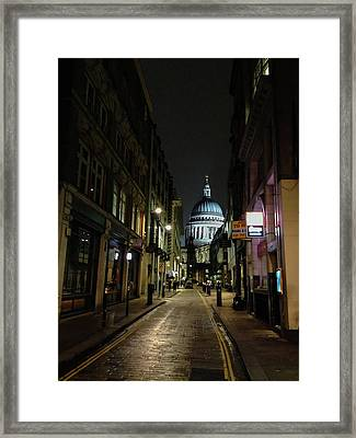 St. Pauls By Night Framed Print