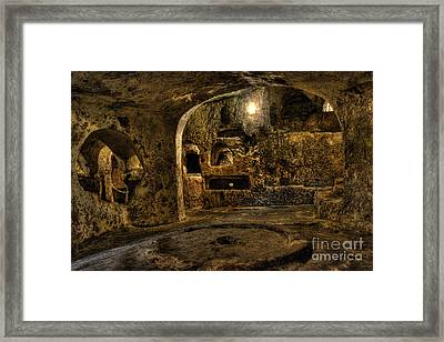St. Paul's Catacombs In Malta Framed Print by Stephan Grixti
