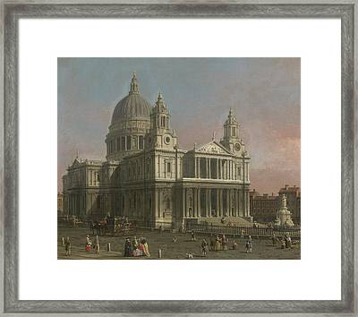 St. Paul's Cathedral Framed Print by Giovanni Antonio Canaletto