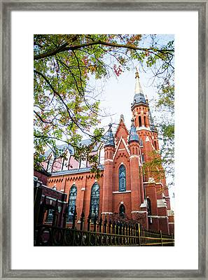 Framed Print featuring the photograph St Paul's Cathedral In Downtown Birmingham by Shelby Young