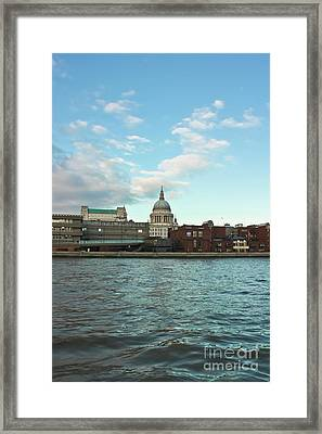 St Paul's Cathedral London Framed Print by Terri Waters