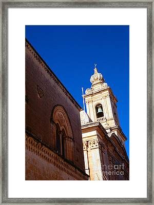 St Pauls Cathedral Mdina Malta Framed Print