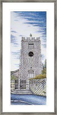 St Paul's Church Clock Framed Print by Sandra Moore