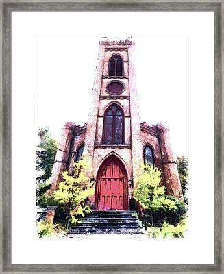 St Paul's Episcopal Church, Montour Falls Ny Framed Print