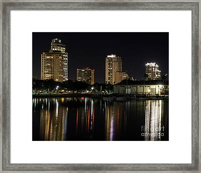 St. Pete At Night Framed Print