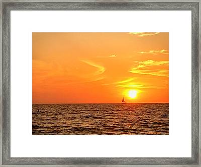St. Pete Beach Sunset Framed Print by Sandy Taylor