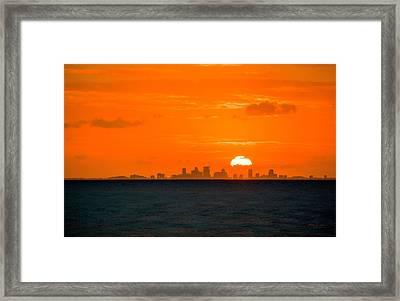 St. Pete Fireball Framed Print